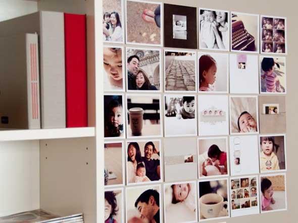 Decore as paredes com fotos de família 020