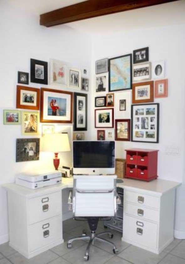 Decore as paredes com fotos de família 024