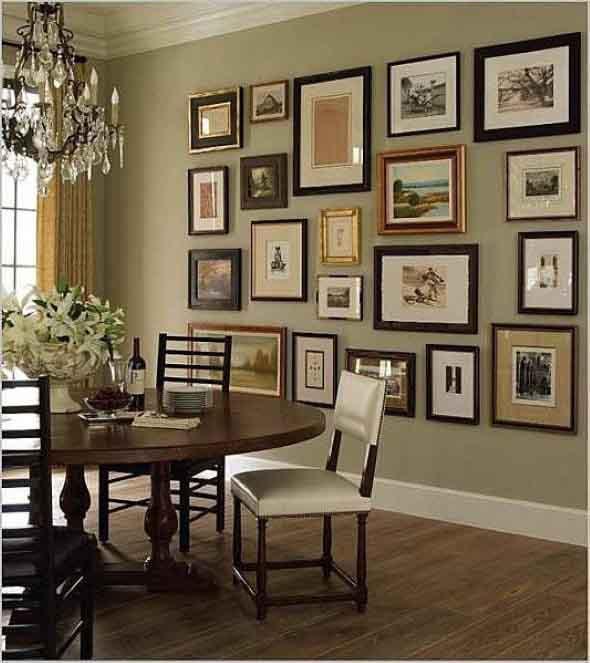 Ideias de decoração com paredes de molduras 001