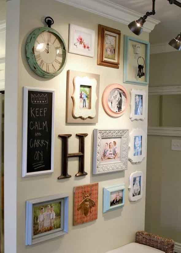 Ideias de decoração com paredes de molduras 002