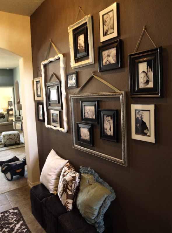 Ideias de decoração com paredes de molduras 003