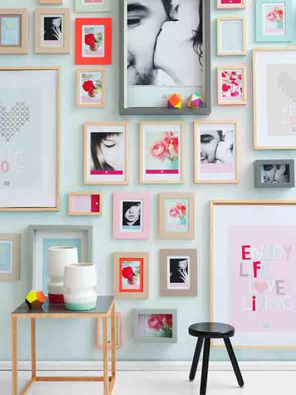 Ideias para decorar paredes com molduras - Decoracion de paredes con fotos ...