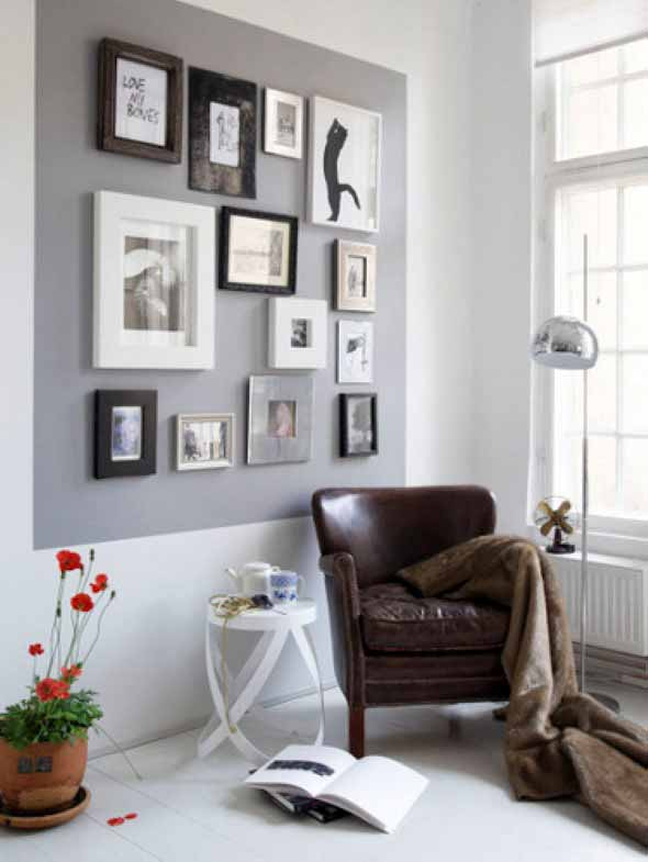 Ideias de decoração com paredes de molduras 014