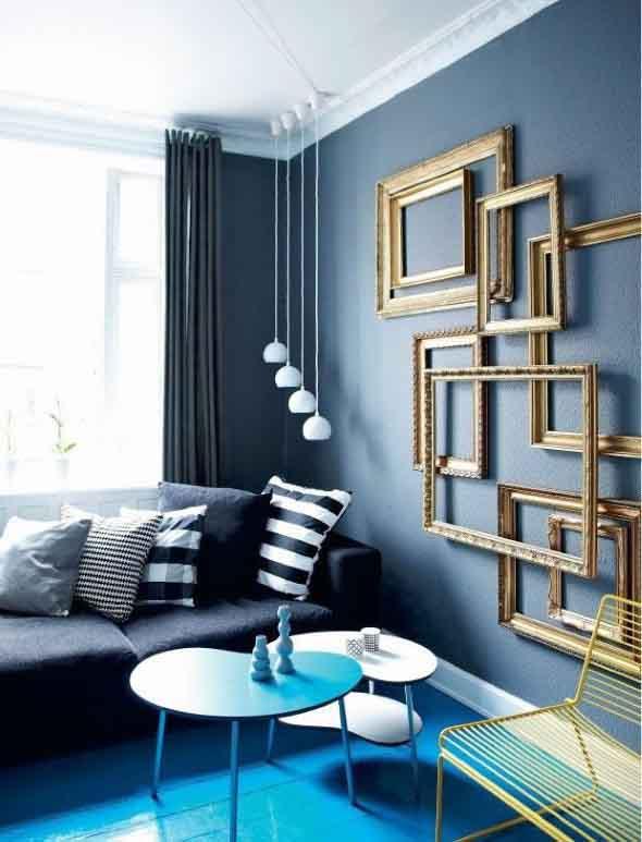 Ideias de decoração com paredes de molduras 017