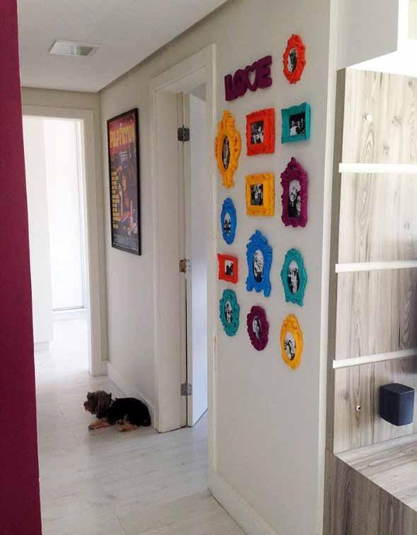 Ideias de decoração com paredes de molduras 019