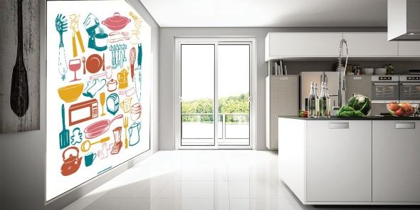 Painel adesivo na decoração 011