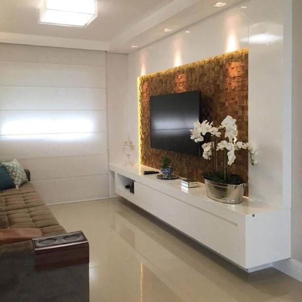 Painel de TV para sala de estar -> Decoração De Sala De Estar Com Painel De Tv