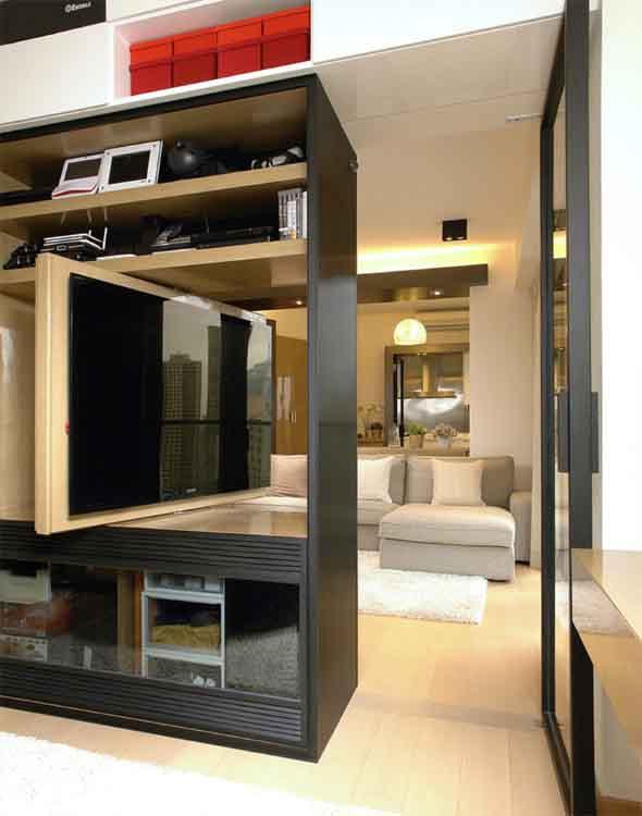 Painel de TV para sala de estar 011