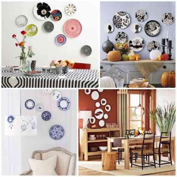Pratos na parede decoração 001