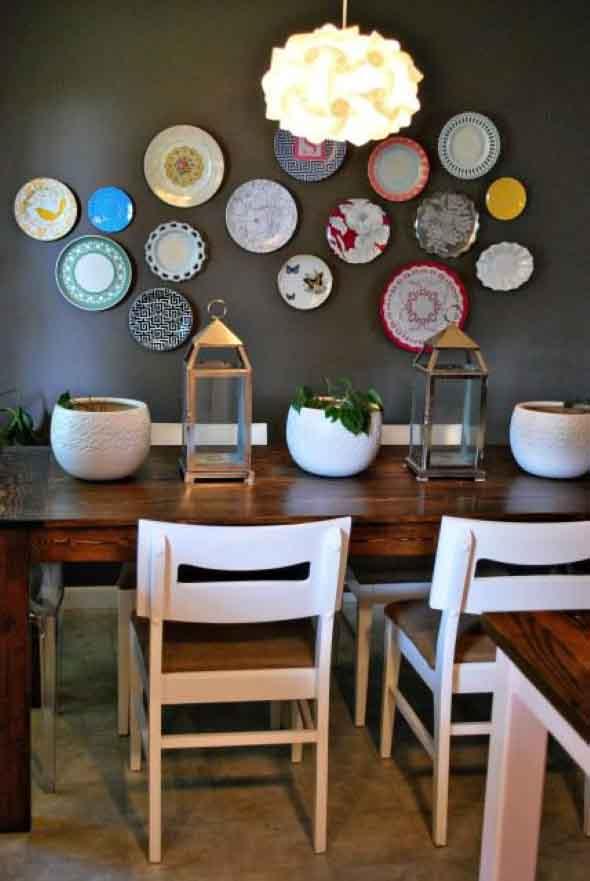 Pratos na parede decoração 002