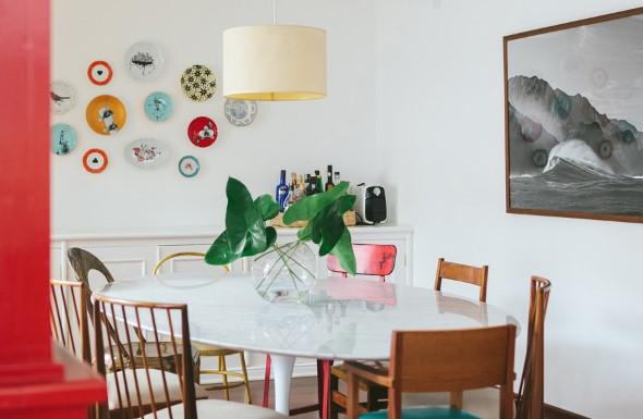 Pratos na parede decoração 011