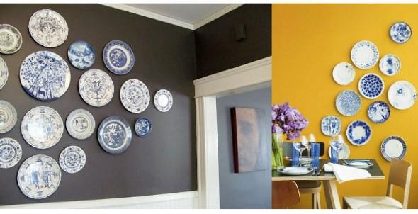 Pratos na parede decoração 012