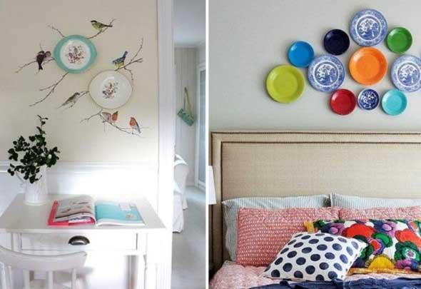 Pratos na parede decoração 013