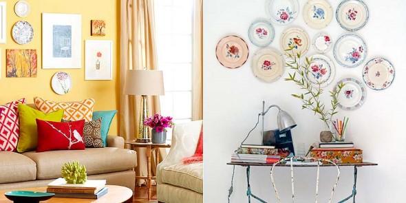 Pratos na parede decoração 014