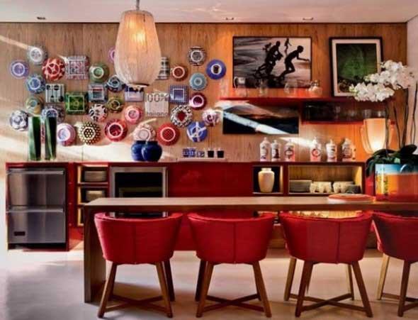 Pratos na parede decoração 015