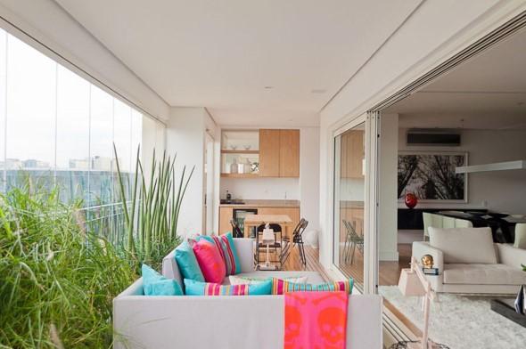 Almofadas coloridas na decoração 012