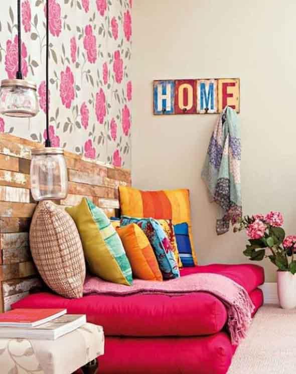 Almofadas coloridas na decoração 022