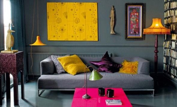 Almofadas coloridas na decoração 024