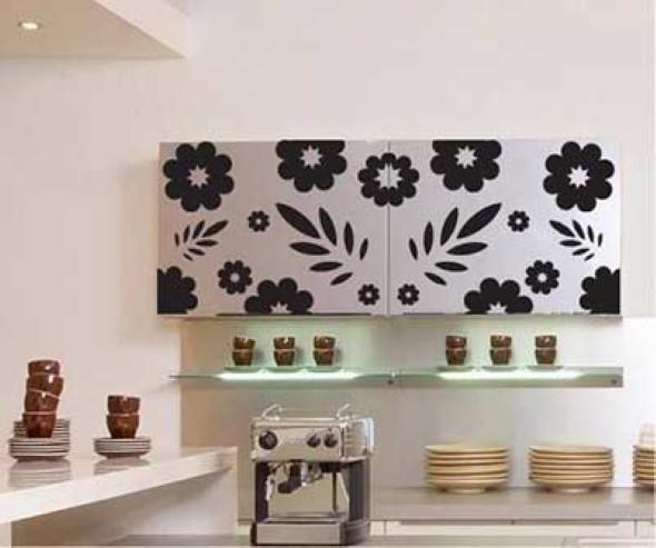 Decore sua cozinha com adesivos 001