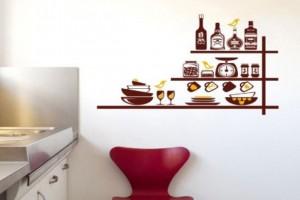 Decore sua cozinha com adesivos 004