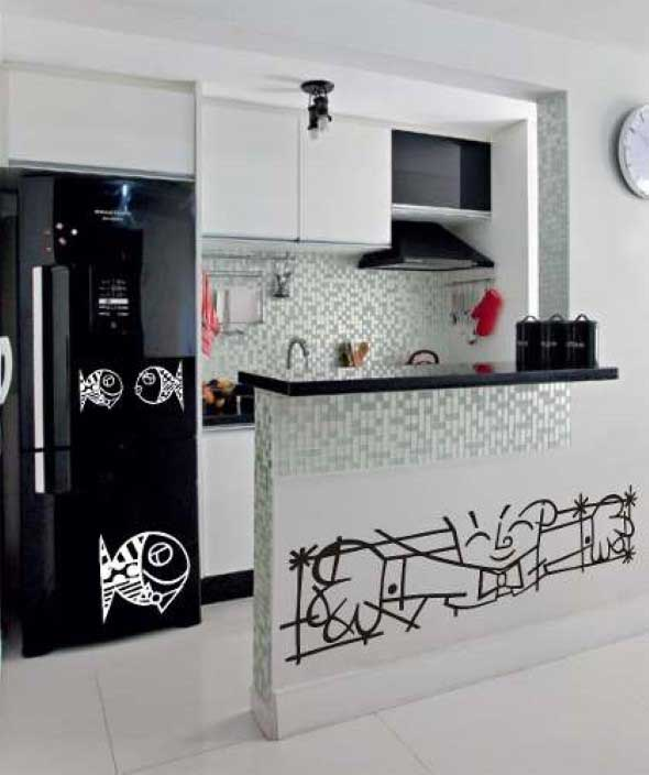 Decore sua cozinha com adesivos 009