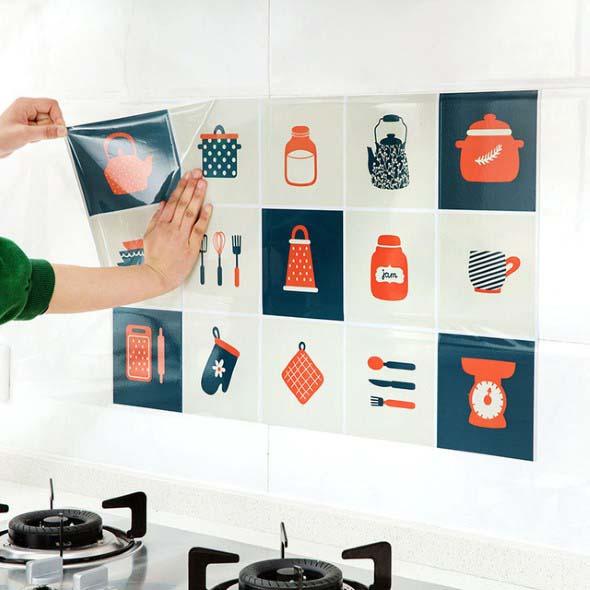 Decore sua cozinha com adesivos 018