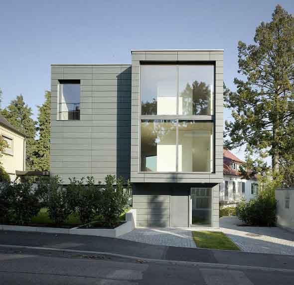 Fachadas de casa com vidros 008