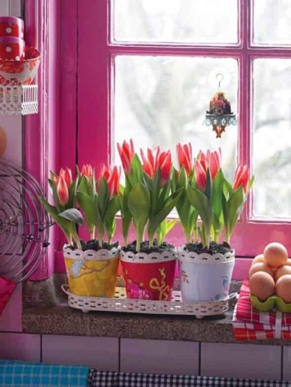 Janelas coloridas dentro de casa na decoração 005