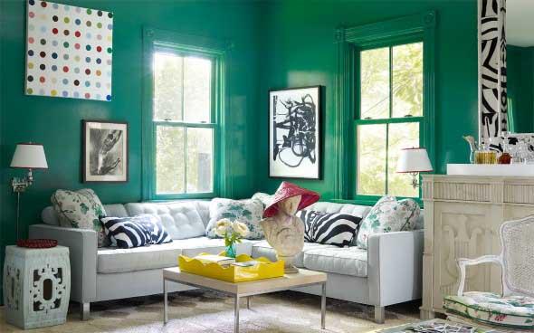 Janelas coloridas dentro de casa na decoração 008