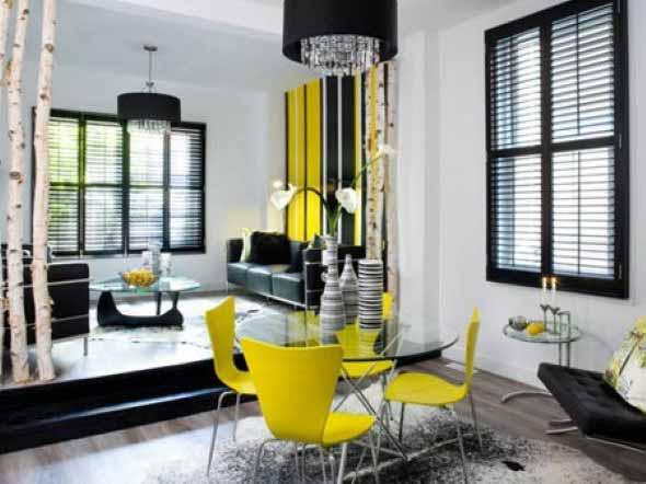 Janelas coloridas dentro de casa na decoração 012