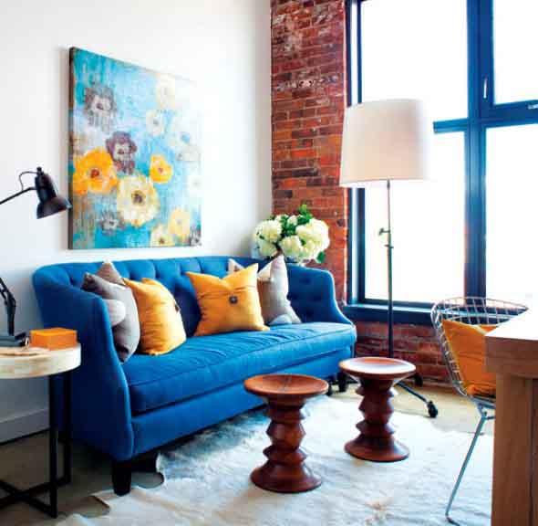 Janelas coloridas dentro de casa na decoração 016