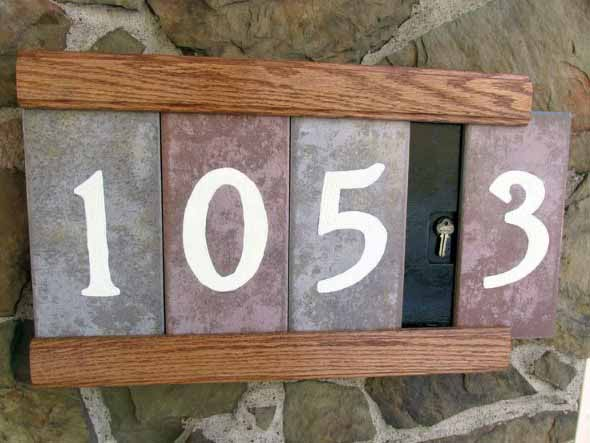 Números de casa DIY 003