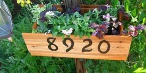 Números de casa DIY 006