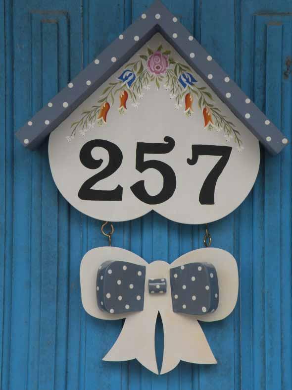 Números de casa DIY 010