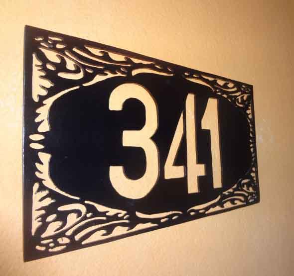 Números de casa DIY 012