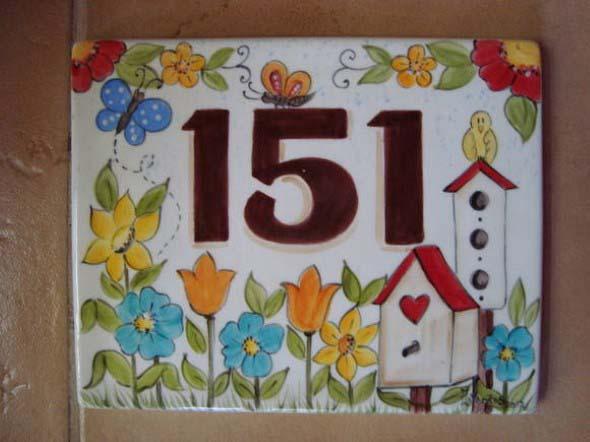 Números de casa DIY 014