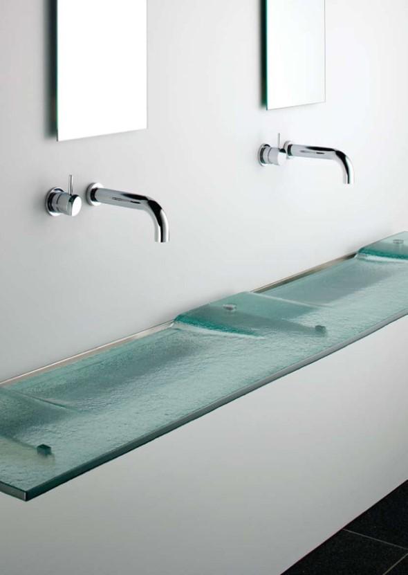 Pias de banheiro com estilo futurista 004