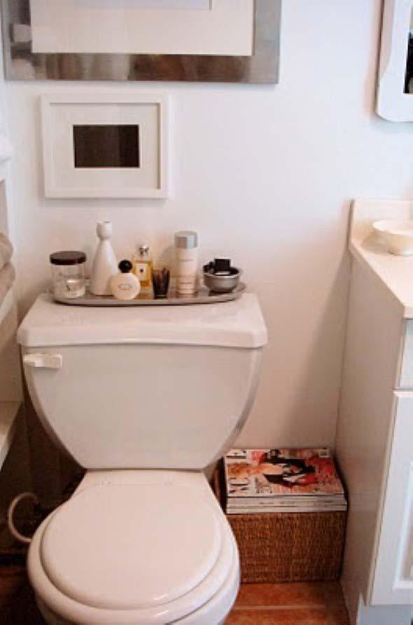 Suporte para jornais e revistas no banheiro 008