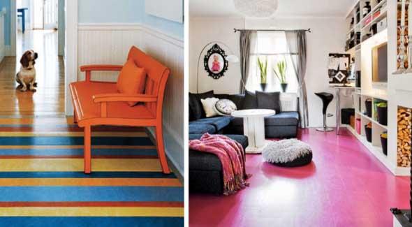 Chão colorido na decoração 001
