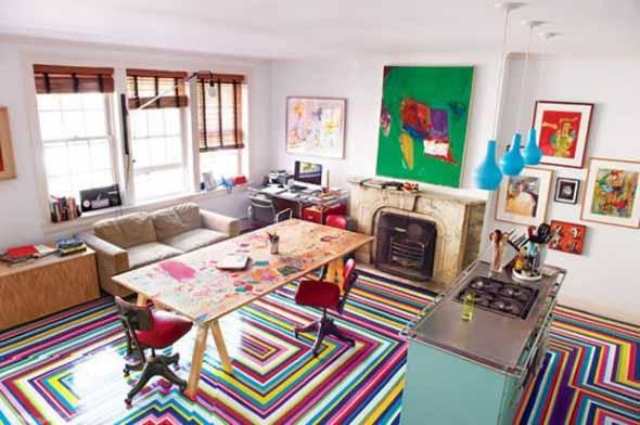 Chão colorido na decoração 003