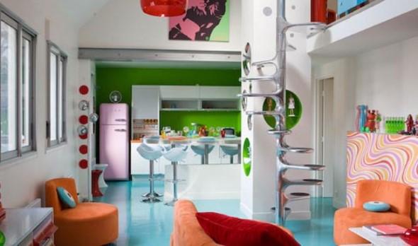Chão colorido na decoração 006