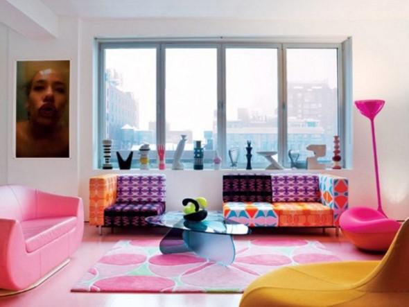 Chão colorido na decoração 007