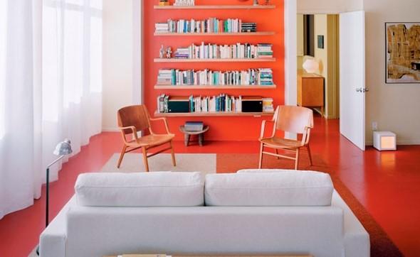 Chão colorido na decoração 009