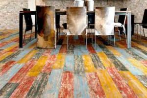 Chão colorido na decoração 011
