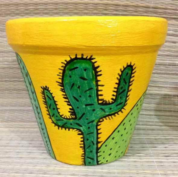 DIY - Como pintar vasos de cerâmica 001