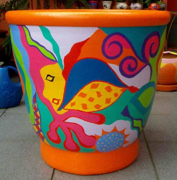 DIY - Como pintar vasos de cerâmica 002