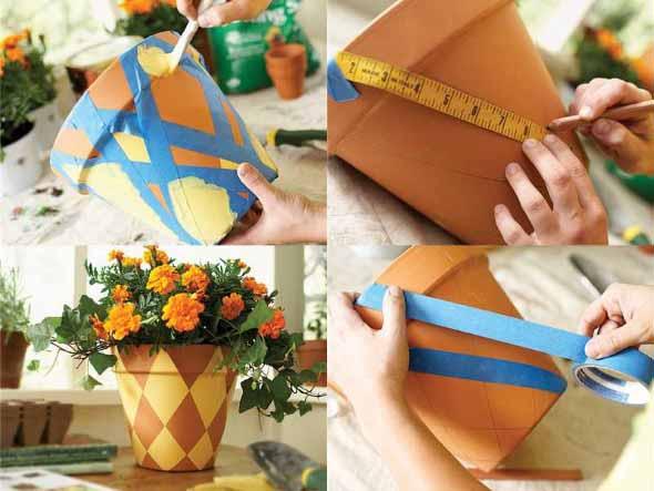 DIY - Como pintar vasos de cerâmica 004