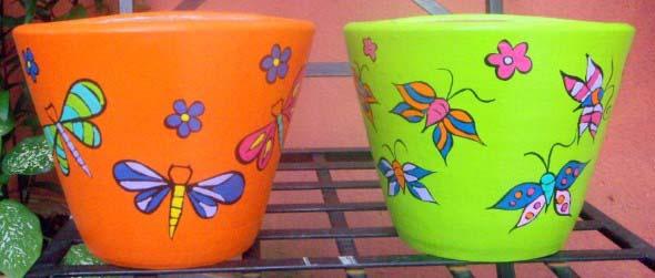 DIY - Como pintar vasos de cerâmica 005