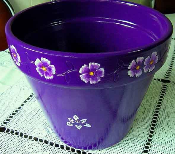 DIY - Como pintar vasos de cerâmica 006