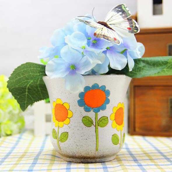 DIY - Como pintar vasos de cerâmica 009